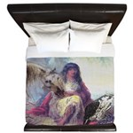 Hawk Woman King Duvet