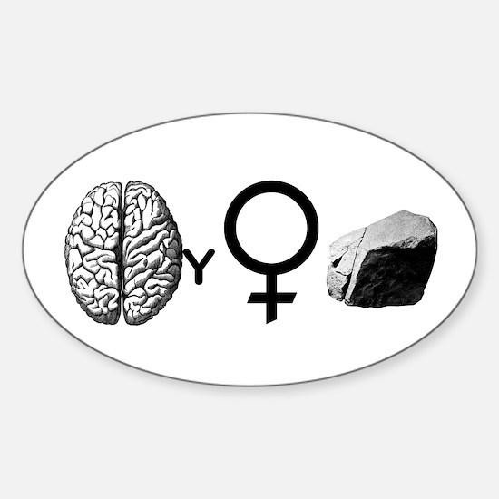 Brainy Girls Rock! Decal