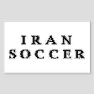 Iran Soccer Rectangle Sticker