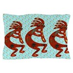 Lizard Kokopelli Pillow Case