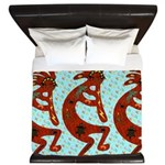 Lizard Kokopelli King Duvet