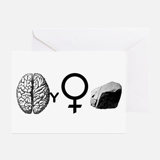 Brainy Girls Rock! Greeting Cards (Pk of 20)