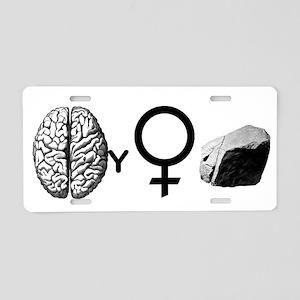 Brainy Girls Rock! Aluminum License Plate