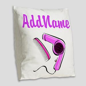 BEST HAIR STYLIST Burlap Throw Pillow