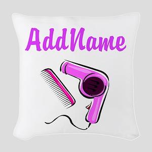 BEST HAIR STYLIST Woven Throw Pillow