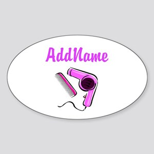 BEST HAIR STYLIST Sticker (Oval)