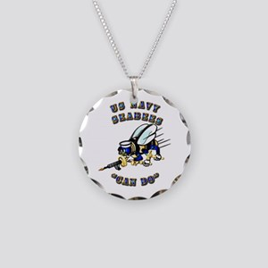 US Navy - SeaBees - Can Do Necklace Circle Charm