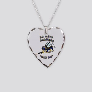 US Navy - SeaBees - Can Do Necklace Heart Charm
