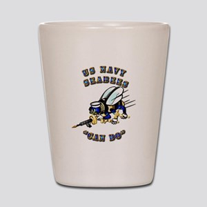 US Navy - SeaBees - Can Do Shot Glass