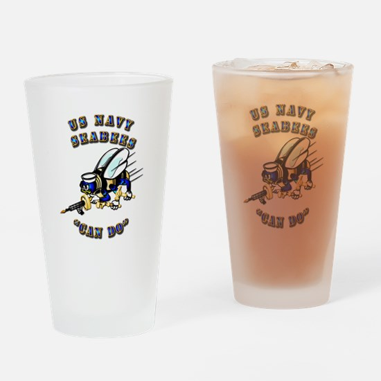 US Navy - SeaBees - Can Do Drinking Glass