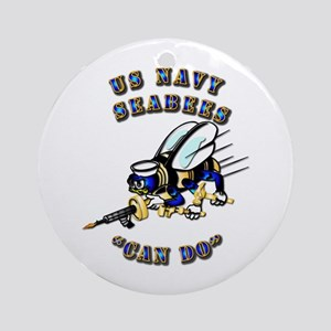 US Navy - SeaBees - Can Do Ornament (Round)