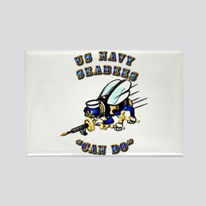 US Navy - SeaBees - Can Do Rectangle Magnet