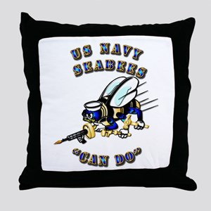 US Navy - SeaBees - Can Do Throw Pillow