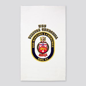 USS Winston Churchill - Crest 3'x5' Area Rug