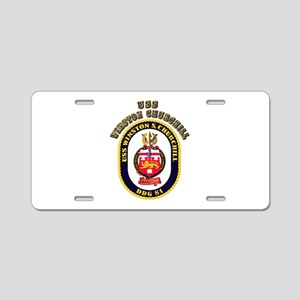 USS Winston Churchill - Crest Aluminum License Pla