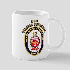 USS Winston Churchill - Crest Mug