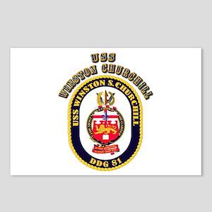 USS Winston Churchill - Crest Postcards (Package o