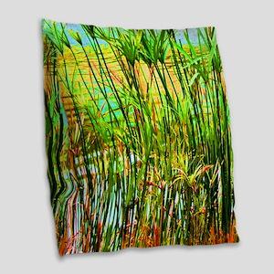 Reed Burlap Throw Pillow