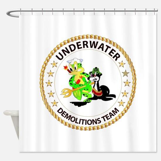 SOF - Underwater Demolitions Team Shower Curtain