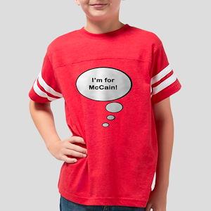mccain maternity Youth Football Shirt