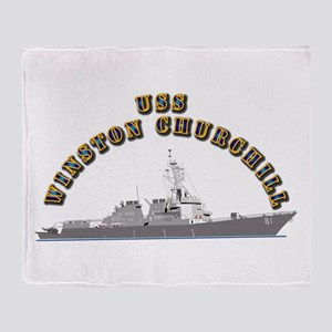 USS Winston Churchill - Ship Throw Blanket