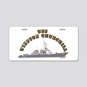 USS Winston Churchill - Ship Aluminum License Plat