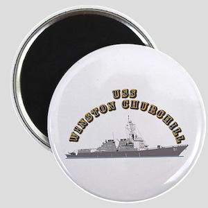 USS Winston Churchill - Ship Magnet
