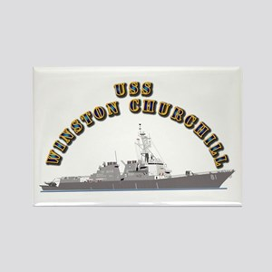 USS Winston Churchill - Ship Rectangle Magnet