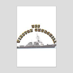 USS Winston Churchill - Ship Mini Poster Print