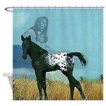 Nez Perce Pony Shower Curtain