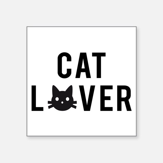 Cat lover with black cat face Sticker