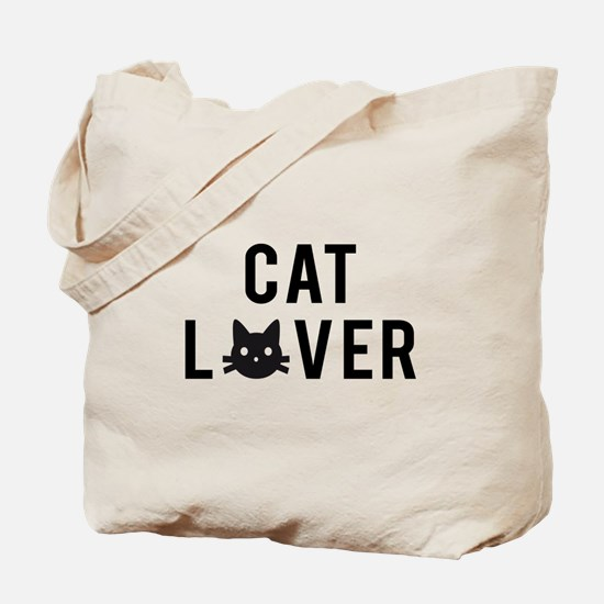 Cat lover with black cat face Tote Bag