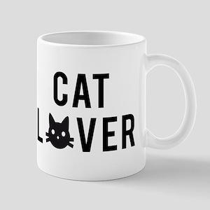 Cat lover with black cat face Mug