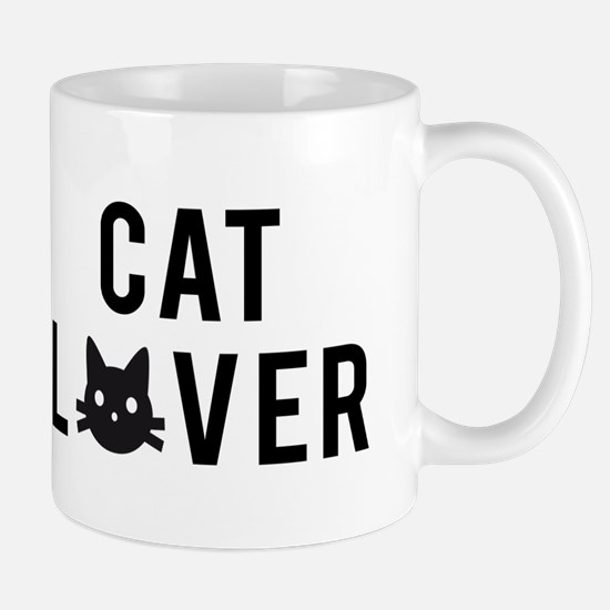 Cat lover with black cat face Mug
