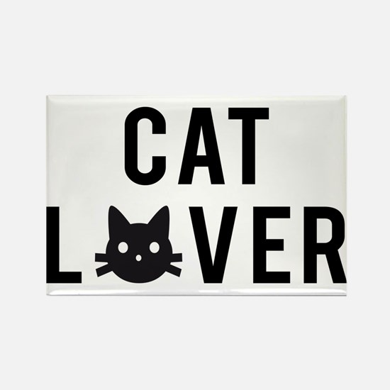 Cat lover with black cat face Rectangle Magnet