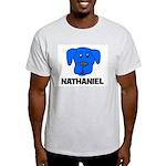 Nathaniel Puppy Dog Gift Ash Grey T-Shirt
