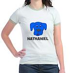 Nathaniel Puppy Dog Gift Jr. Ringer T-Shirt