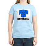 Nathaniel Puppy Dog Gift Women's Pink T-Shirt