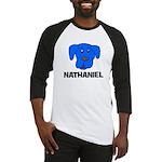 Nathaniel Puppy Dog Gift Baseball Jersey