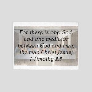 1 Timothy 2:5 5'x7'Area Rug