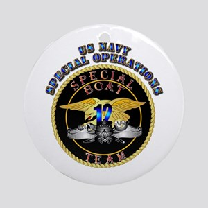 SOF - Special Boat Team 12 Ornament (Round)