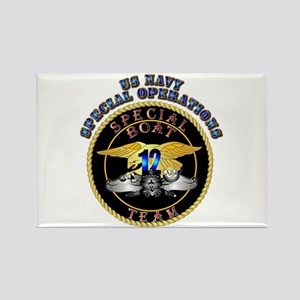 SOF - Special Boat Team 12 Rectangle Magnet