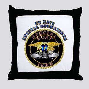 SOF - Special Boat Team 12 Throw Pillow