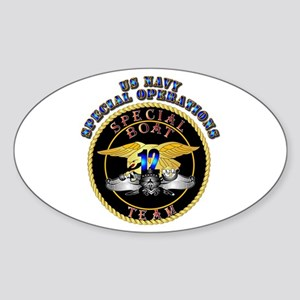 SOF - Special Boat Team 12 Sticker (Oval)