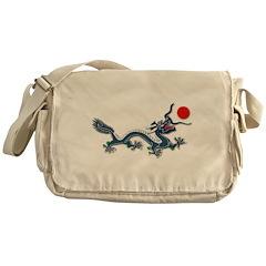 Chinese Blue Dragon 4 Messenger Bag