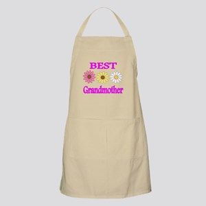 BEST GRANDMOTHER WITH FLOWERS 2 Apron
