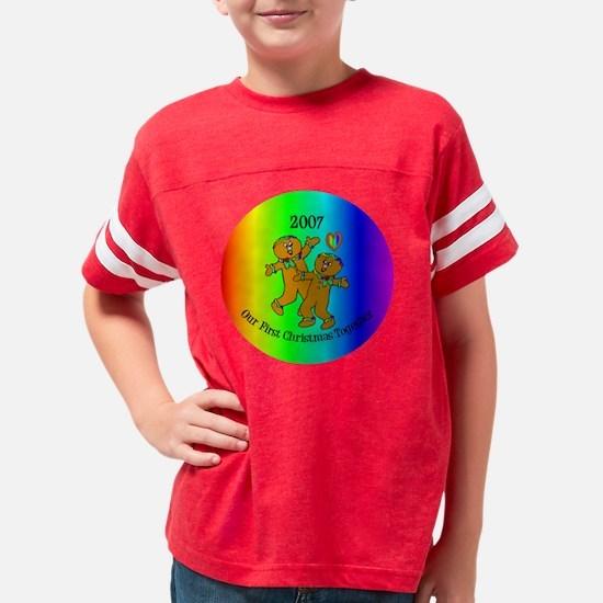 firstxmasgingerbread207rainbo Youth Football Shirt