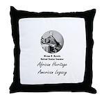 Hiram Revels Throw Pillow