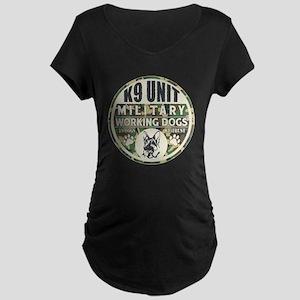K9 Unit Military Working Do Maternity Dark T-Shirt