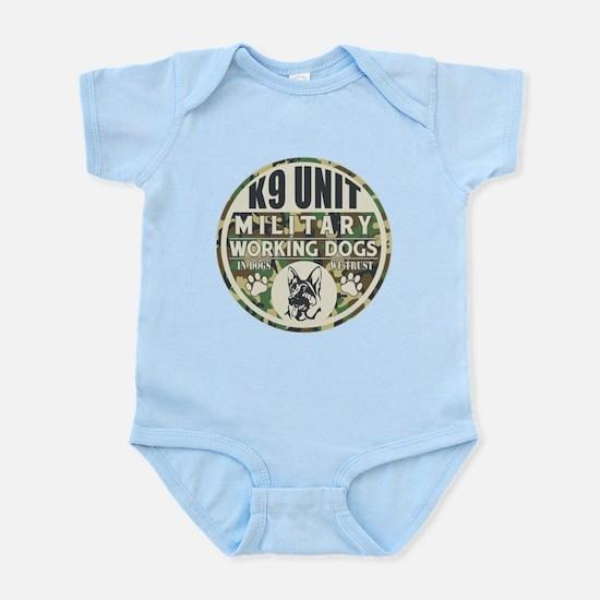 K9 Unit Military Working Dogs Infant Bodysuit